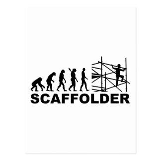 Evolution scaffolder postcard