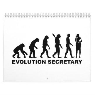 Evolution secretary calendar