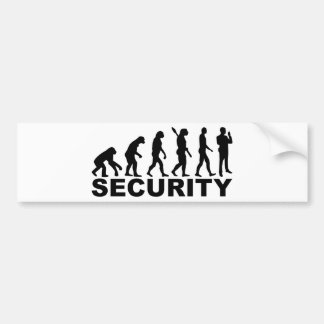 Evolution security bumper sticker