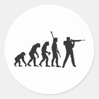 evolution shooting classic round sticker