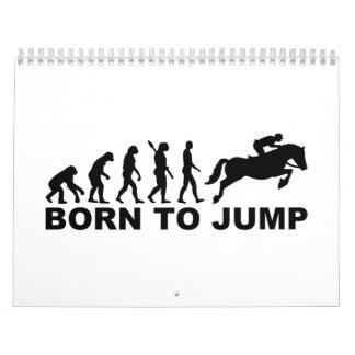 Evolution show jumping calendar