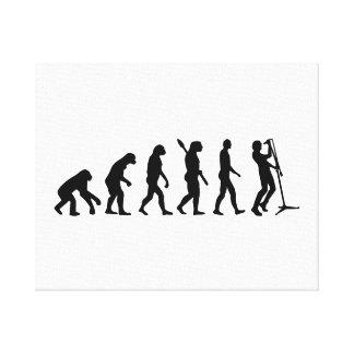 Evolution singer canvas print