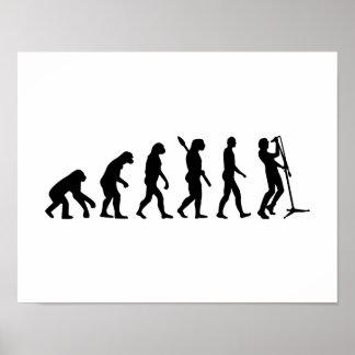 Evolution singer poster