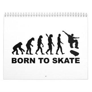 Evolution Skateboard Calendar