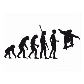 evolution skateboard postcard