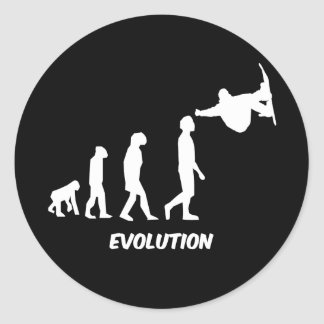 evolution skateboarding classic round sticker