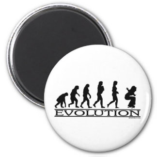 Evolution - Skateboarding - Female Magnet