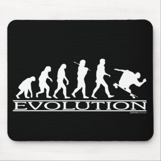 Evolution - Skateboarding - Male Mouse Pad