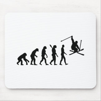 Evolution skiing mouse pad