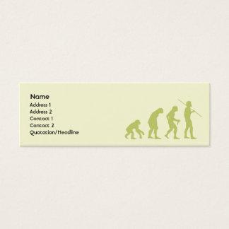 Evolution - Skinny Mini Business Card
