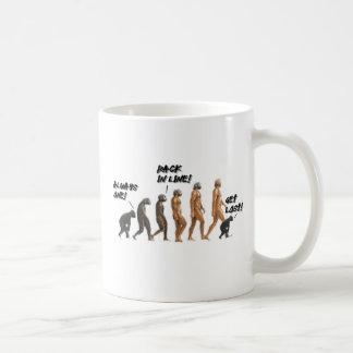 Evolution - Skipping Ahead Basic White Mug