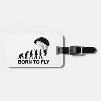 Evolution Skydiving born to fly Luggage Tag