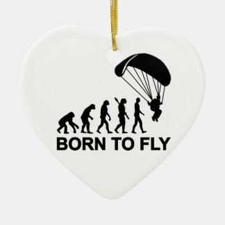 Evolution Skydiving born to fly Christmas Tree Ornament