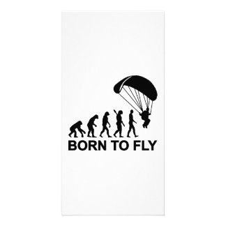 Evolution Skydiving born to fly Photo Card Template