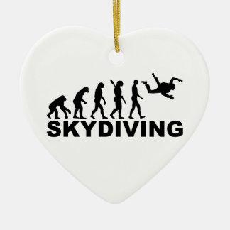 Evolution skydiving ceramic ornament