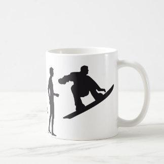 evolution snowboard classic white coffee mug