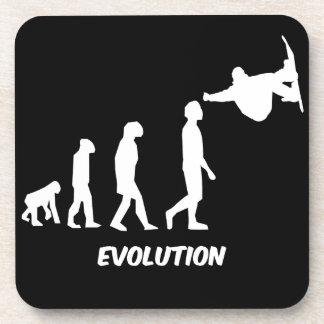 evolution snowboarding drink coaster