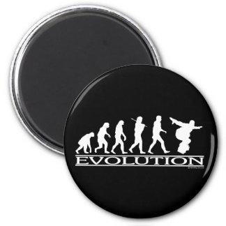Evolution - Snowboarding Magnet