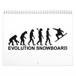 Evolution Snowboarding Snowboard Calendar