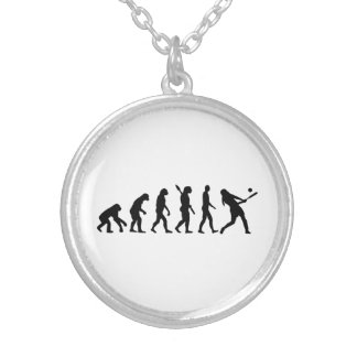 Evolution Softball Silver Plated Necklace