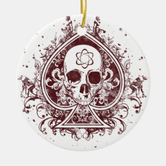 Evolution Spade Double-Sided Ceramic Round Christmas Ornament