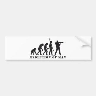 evolution sport more shooter bumper sticker