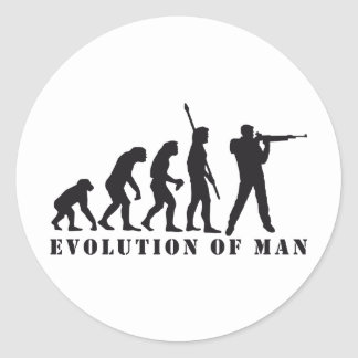evolution sport more shooter classic round sticker