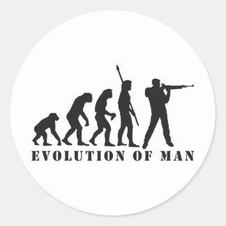 evolution sport shooter pegatina redonda