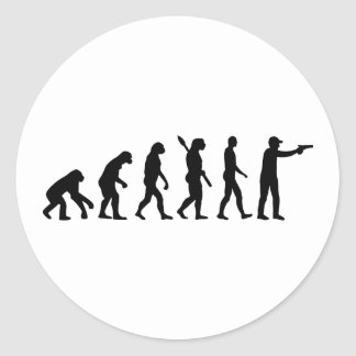 Evolution sports shooting round stickers