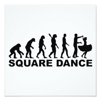 Evolution square dance card