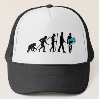 evolution stamp collector philatelist trucker hat
