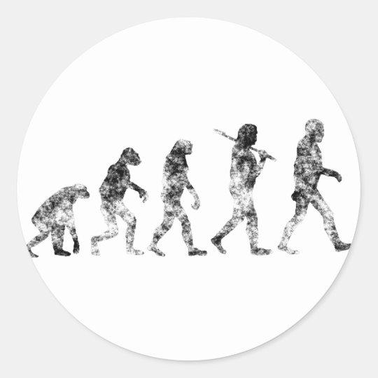 Evolution Standard - Clouds Classic Round Sticker