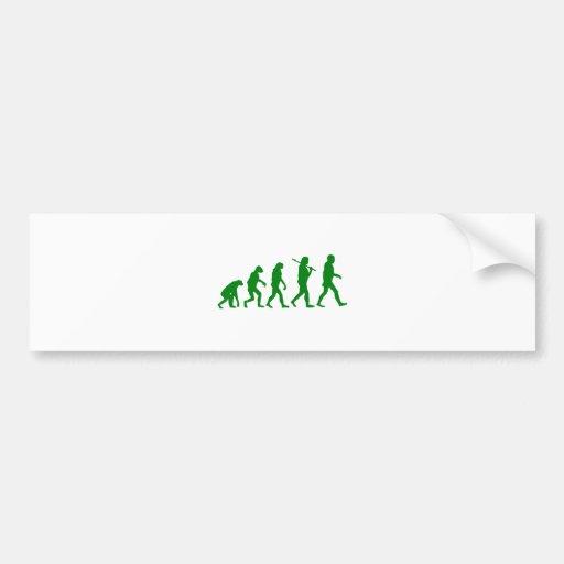 Evolution Standard - Green Car Bumper Sticker