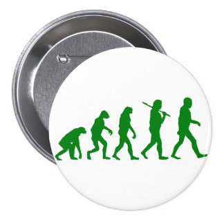 Evolution Standard - Green Pinback Button