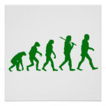 Evolution Standard - Green Posters