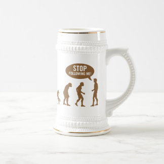 evolution - stop following me! 18 oz beer stein