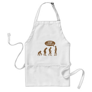 evolution - stop following me! aprons