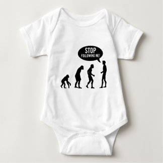 evolution - stop following me! baby bodysuit