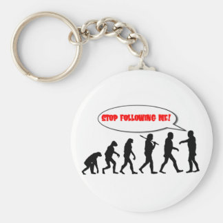 Evolution. Stop Following Me Basic Round Button Keychain