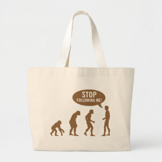 evolution - stop following me! jumbo tote bag
