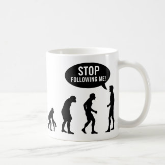 evolution - stop following me mugs