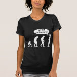 evolution - stop following me! tshirts