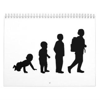 Evolution student school wall calendar