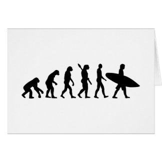 Evolution surfing surf board card