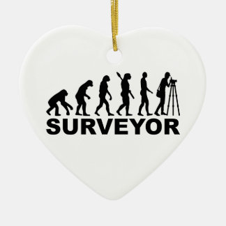 Evolution surveyor ceramic ornament