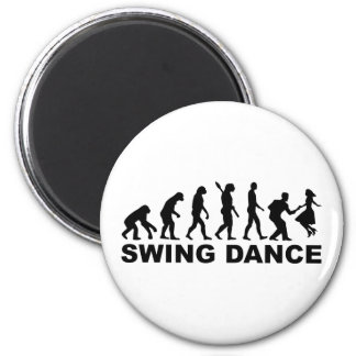 Evolution swing dance 2 inch round magnet