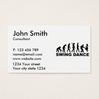 Evolution swing dance business card