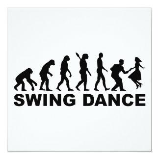 Evolution swing dance card