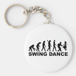 Evolution swing dance keychain