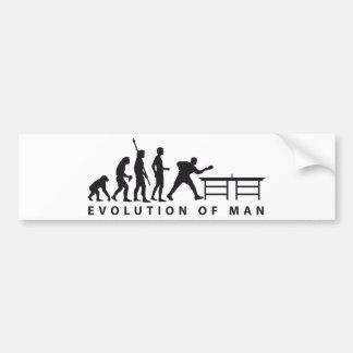 Evolution table tennis B Bumper Sticker